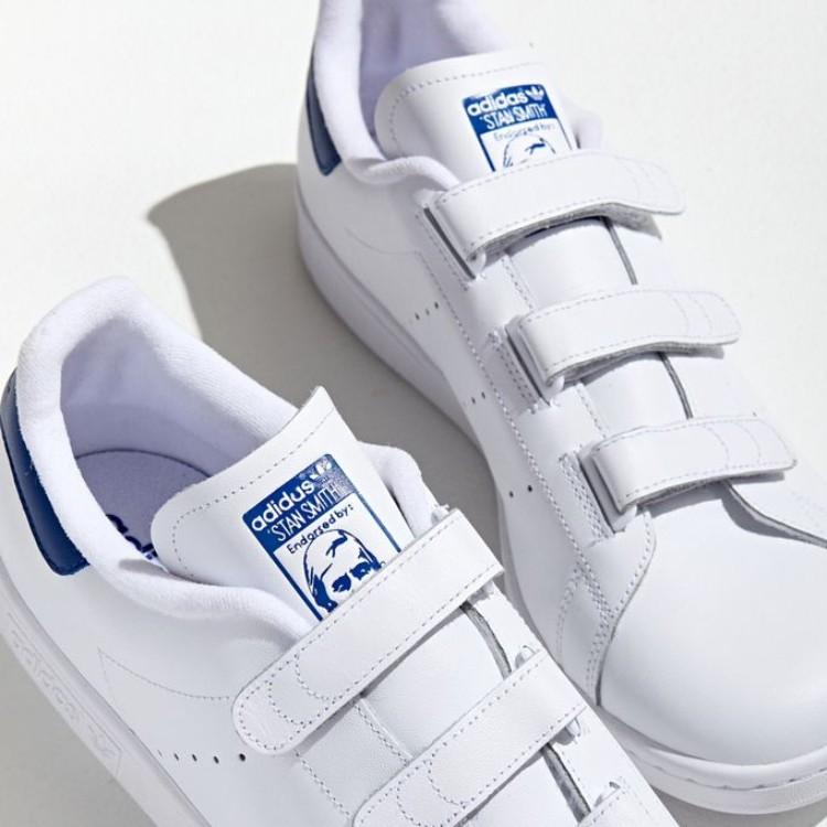 adidas 阿迪达斯 魔术贴蓝尾休闲板鞋
