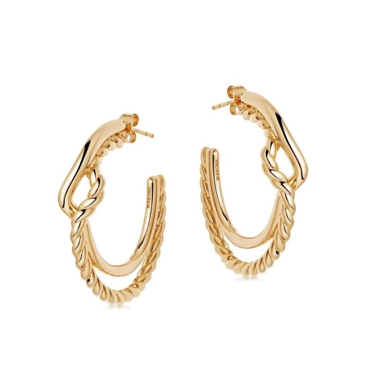 Missoma 金色绕线圈开口式耳环