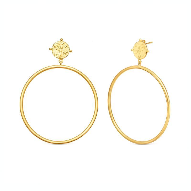 Lucy Williams x Missoma 金色古罗马浮雕大圆环耳环