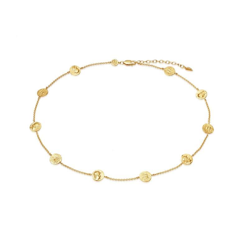 Lucy Williams x Missoma 金色硬币浮雕颈链