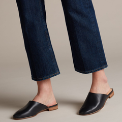 【5折】Clarks 其乐 Pure Blush 黑色皮革拖鞋