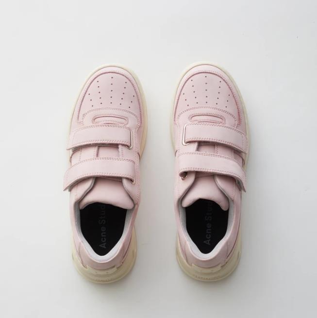 ACNE STUDIOS Steffey Nubuk 粉色运动鞋