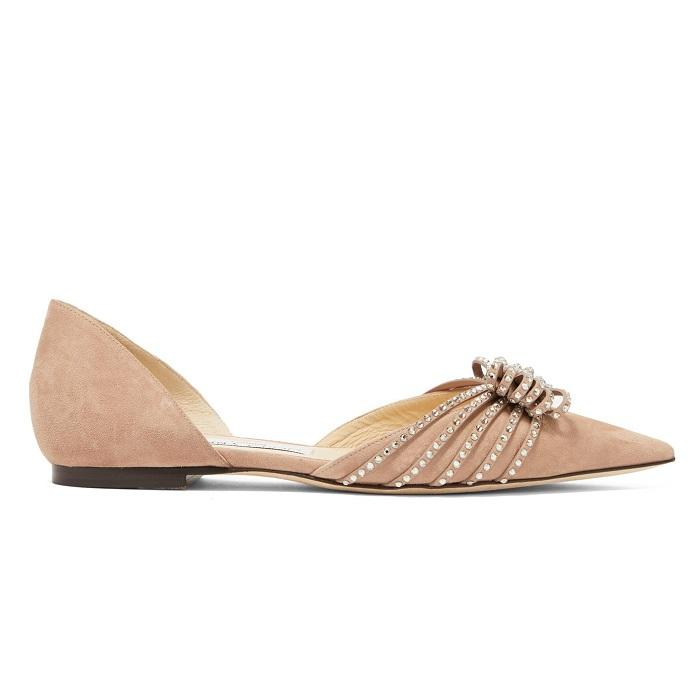 JIMMY CHOO Katience  麂皮平底鞋