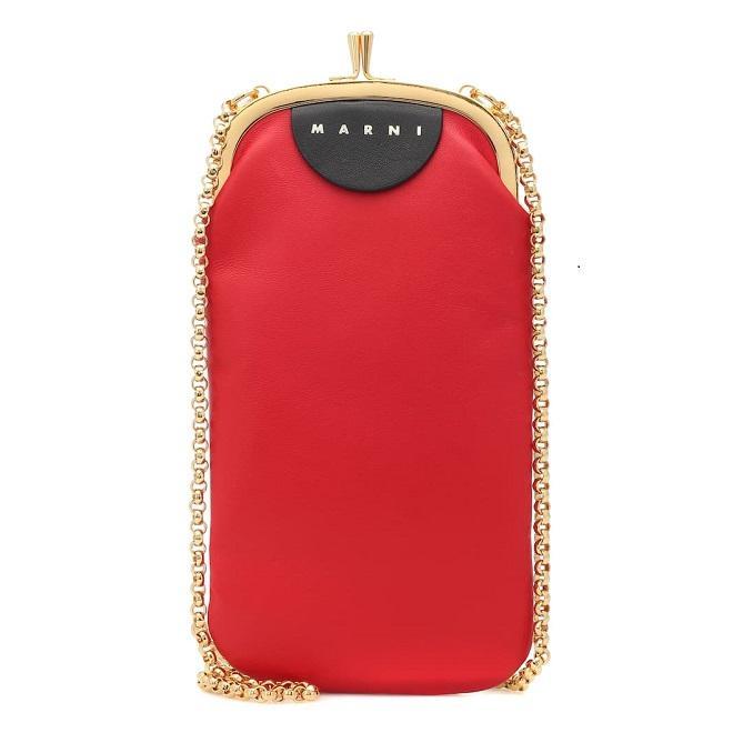 MARNI 皮革手机包
