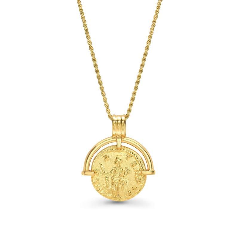 Lucy Williams x Missoma 浮雕图腾金色硬币项链