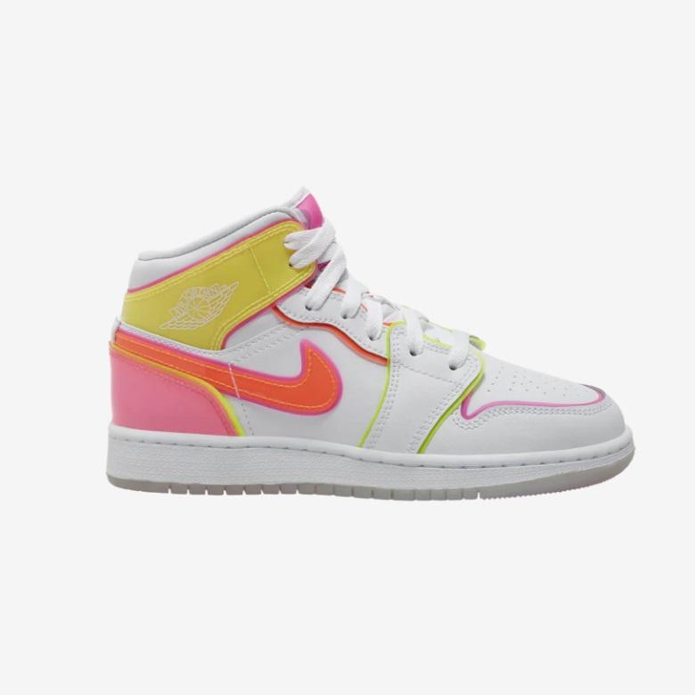 Air Jordan 1 Mid 糖果色水晶底大童款篮球鞋