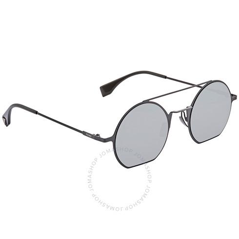 Fendi 芬迪 灰色复古圆形墨镜 FF0291S080748