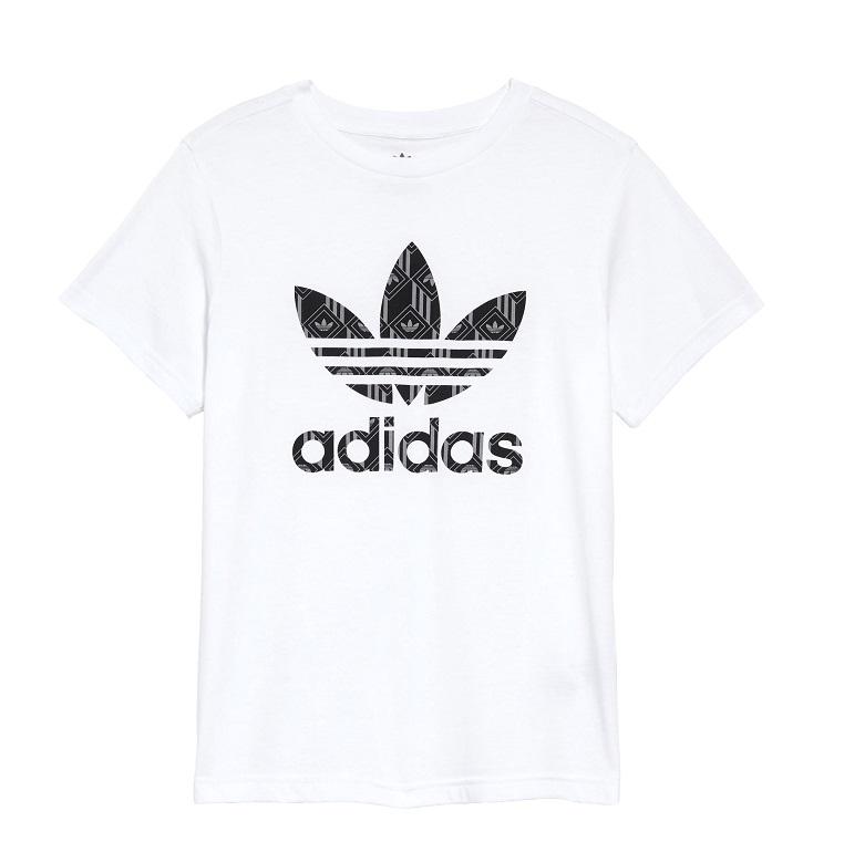 ADIDAS ORIGINALS logo图案童款T恤衫