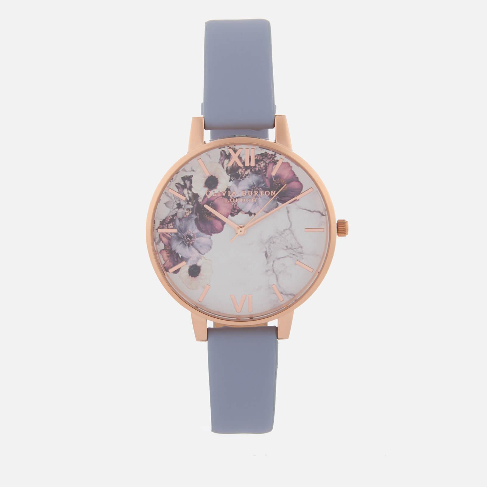 Olivia Burton 女式大理石花朵手表