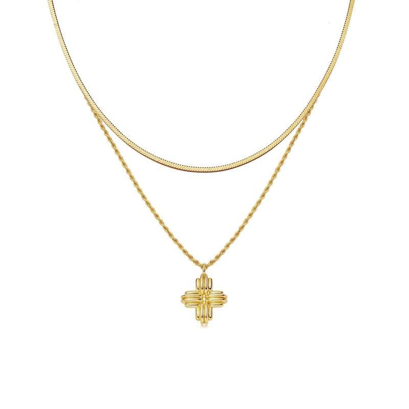 Lucy Williams x Missoma 金色山脊十字架项链套装