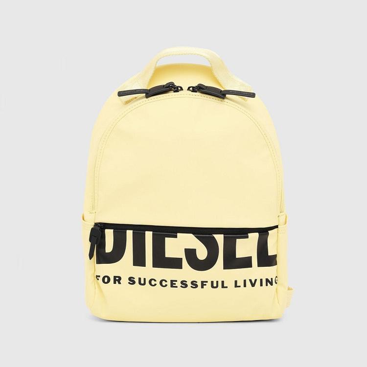 Diesel 黄色 logo 双肩背包