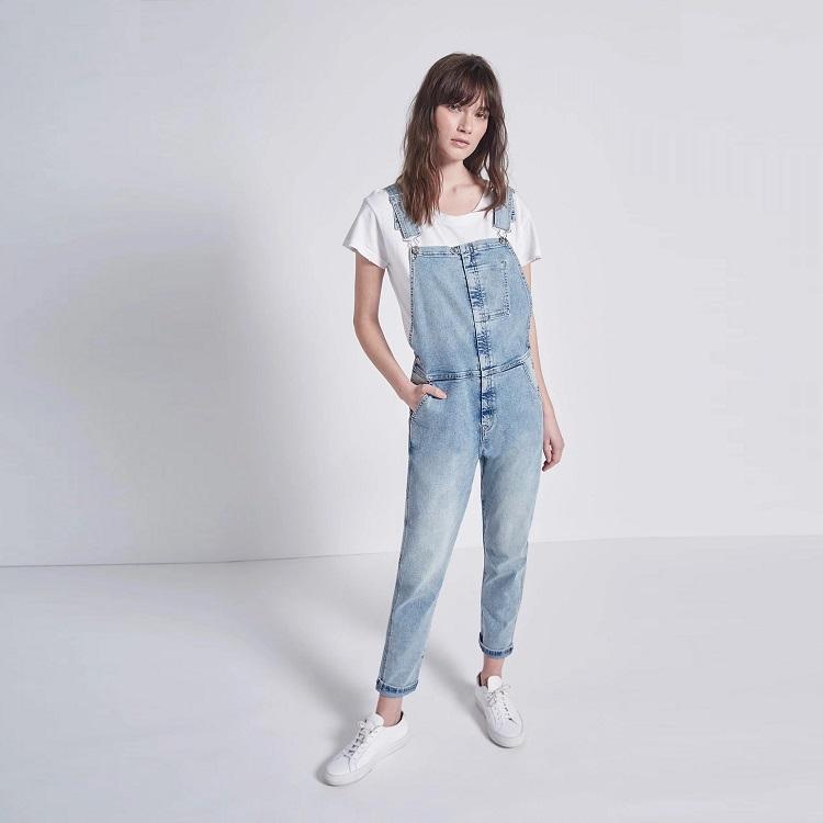Current/Elliott 女款牛仔背带裤