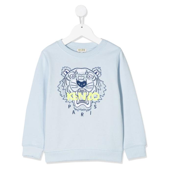 Kenzo Kids logo刺绣套头衫