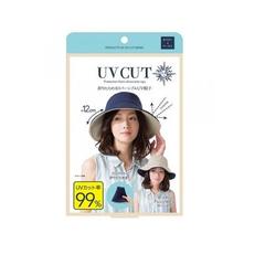 【夏日防晒】SUN FAMILY 可折叠双面防 UV 遮阳帽 UPF50+ (蓝色X米色)