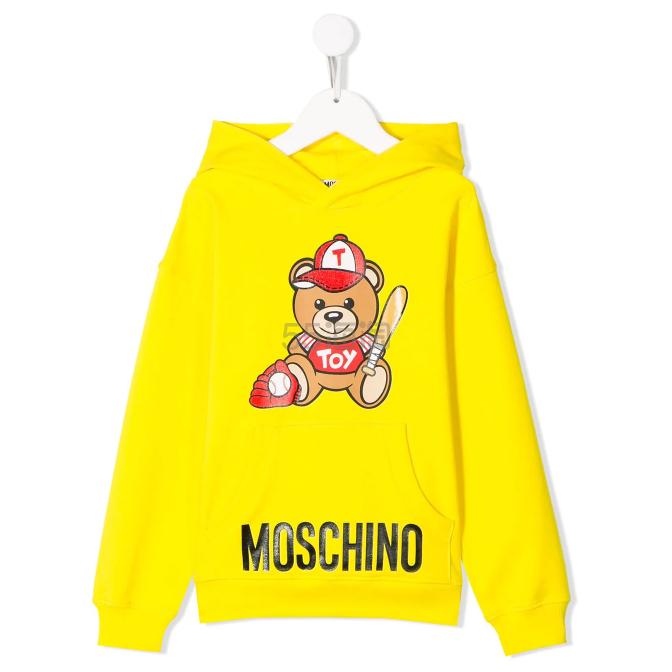 Moschino Kids Sports Bear 连帽衫