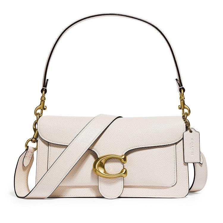 COACH Tabby 26 ivory leather shoulder bag