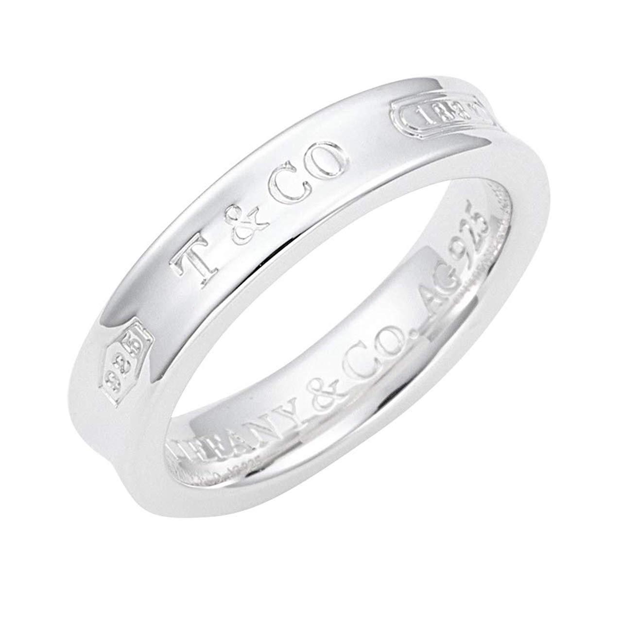 再降!Tiffany&Co 蒂芙尼 1837系列 窄款银戒指