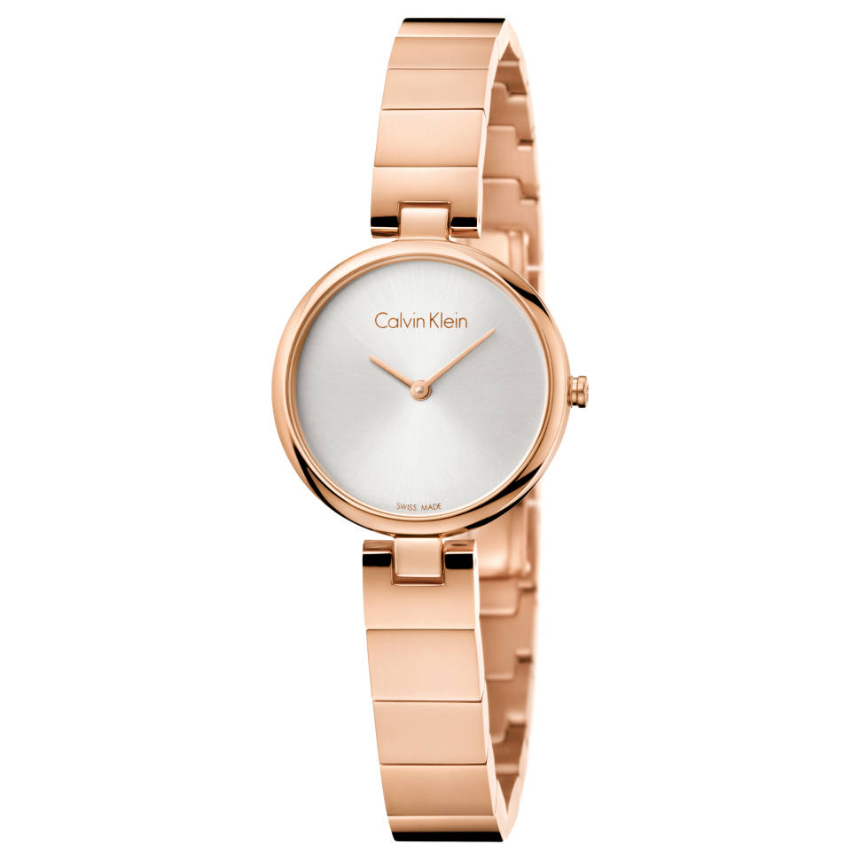 Calvin Klein Authentic 不锈钢表带石英手表玫瑰金 K8G23646