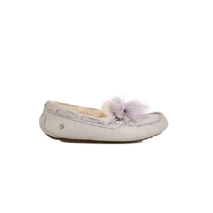 UGG 蕾丝蝴蝶结豆豆鞋