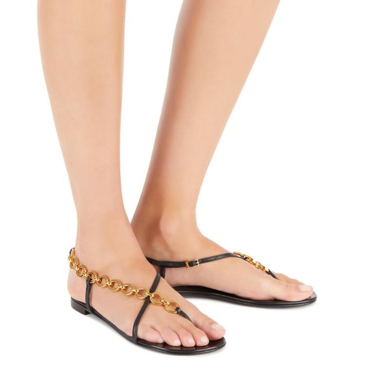 Krabi 金属装饰夹趾凉鞋