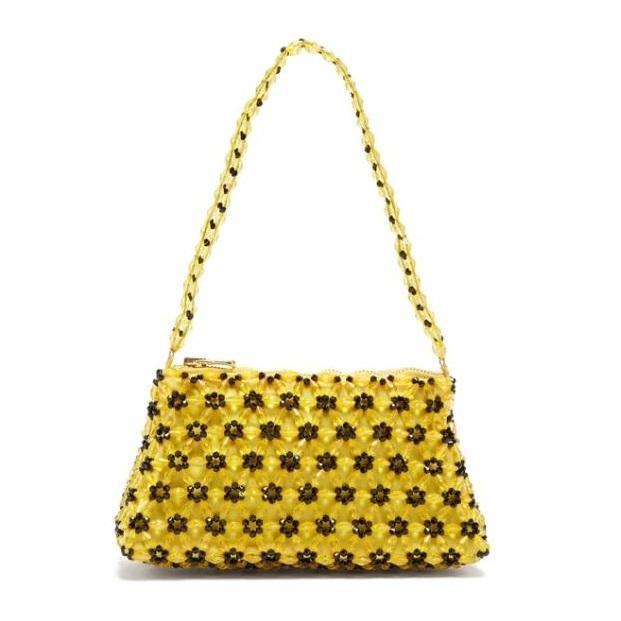 SHRIMPS Dawson 黄色串珠包包
