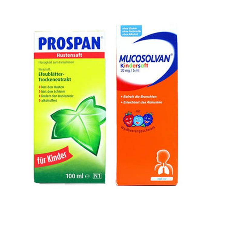 Prospan 常春藤婴幼儿糖浆 小绿叶 100ml+Mucosolvan 100ml €9
