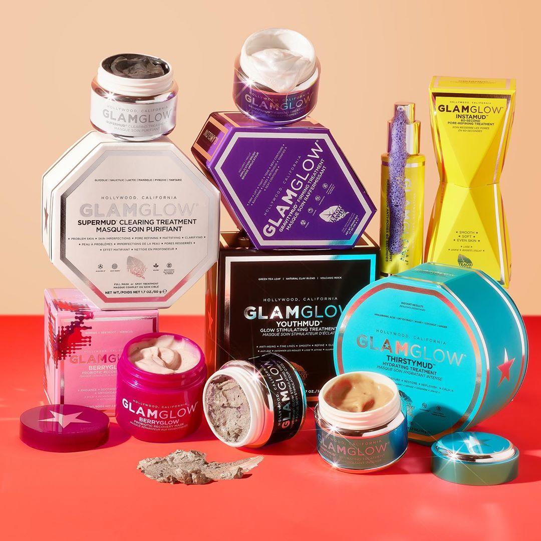 Glam Glow 美国官网:白罐发光面膜、蓝罐补水面膜等经典面膜