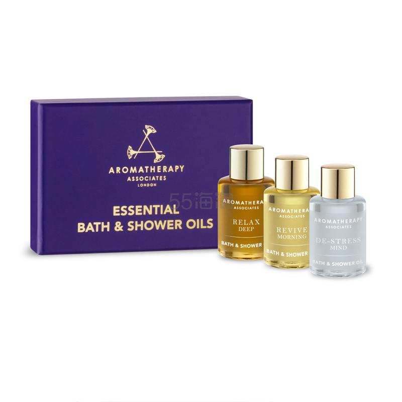 【8折】Aromatherapy Associates 沐浴油三件套装 7.5ml x 3