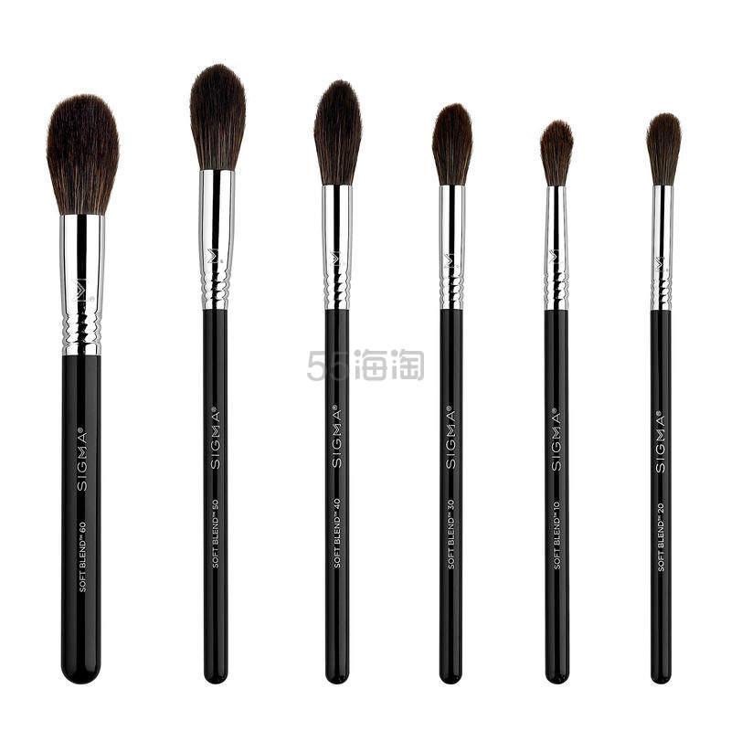【7折】Sigma Soft Blend系列化妆刷六支套装