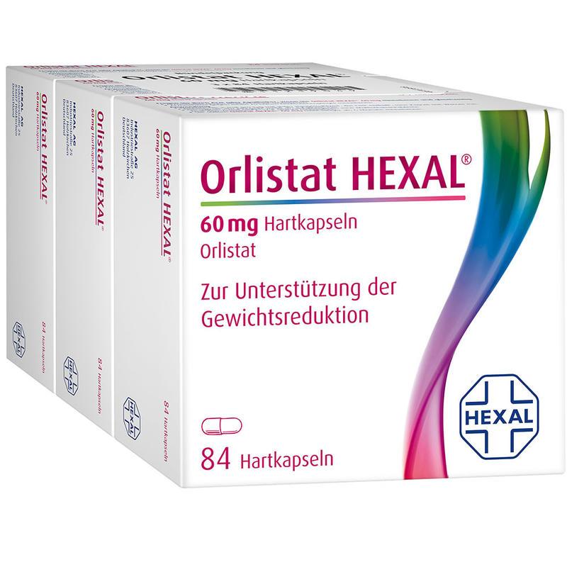 ORLISTAT HEXAL 奥利司他 60 mg 纤体胶囊 3x 84粒/盒 €86.52