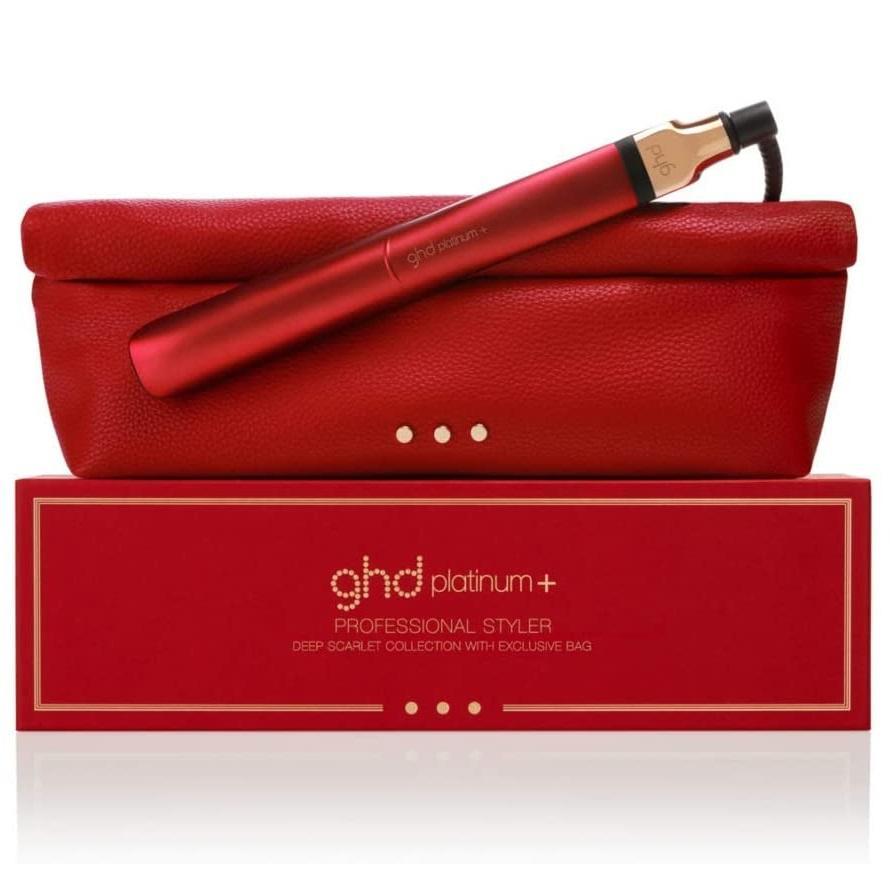 ghd platinum+ 限量深红色卷发棒套装