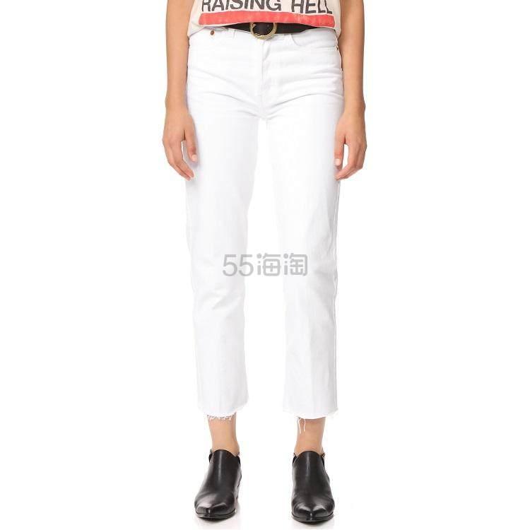 【新客首单高返18%】江疏影同款!RE/DONE 高腰硬挺烟管牛仔裤