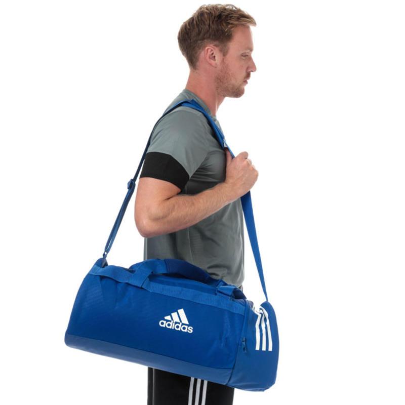 【4.3折】Adidas 阿迪达斯 经典三条纹行李包