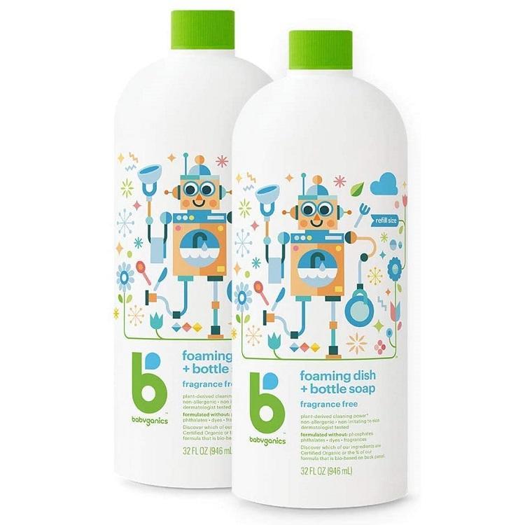 新低!Babyganics 甘尼克宝贝 奶瓶餐具清洁剂 946ml *2瓶