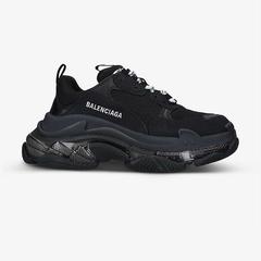 明星同款!【爆款热推】BALENCIAGA Triple S 皮革网面中帮运动鞋