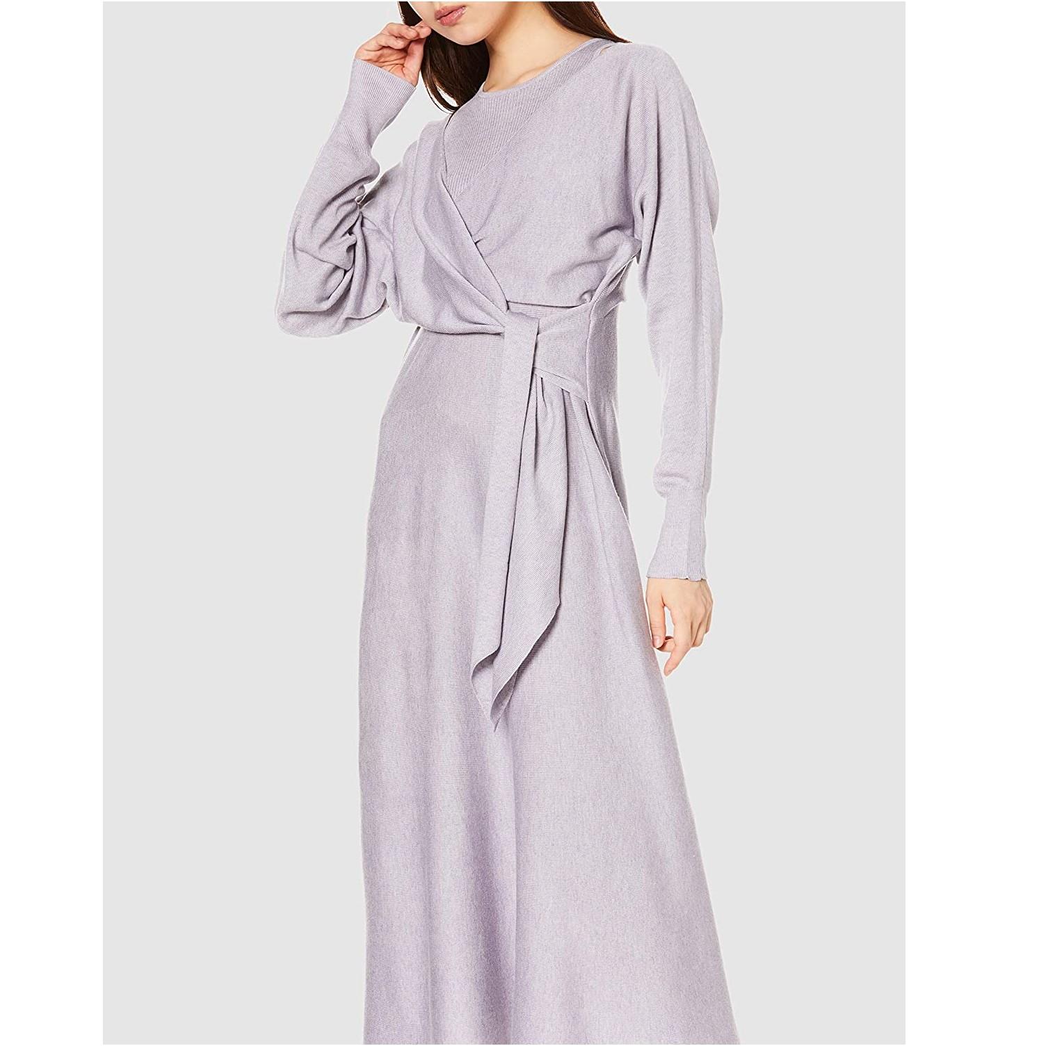 SNIDEL 针织连衣裙 女士 淡紫色 SWNO204139