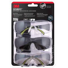 好价!【中亚Prime会员】3M 防雾护目眼镜,多件装(3件装)SF400-W-3PK-PS Secure-Fit 400