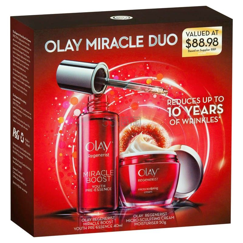 Olay 大红瓶限量版套装(大红瓶新生塑颜面霜50g+奇迹赋能肌底液精华40ml)