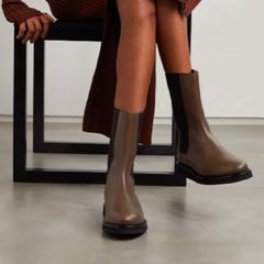 时尚博主同款!【7.5折】LEGRES 18 皮革切尔西靴