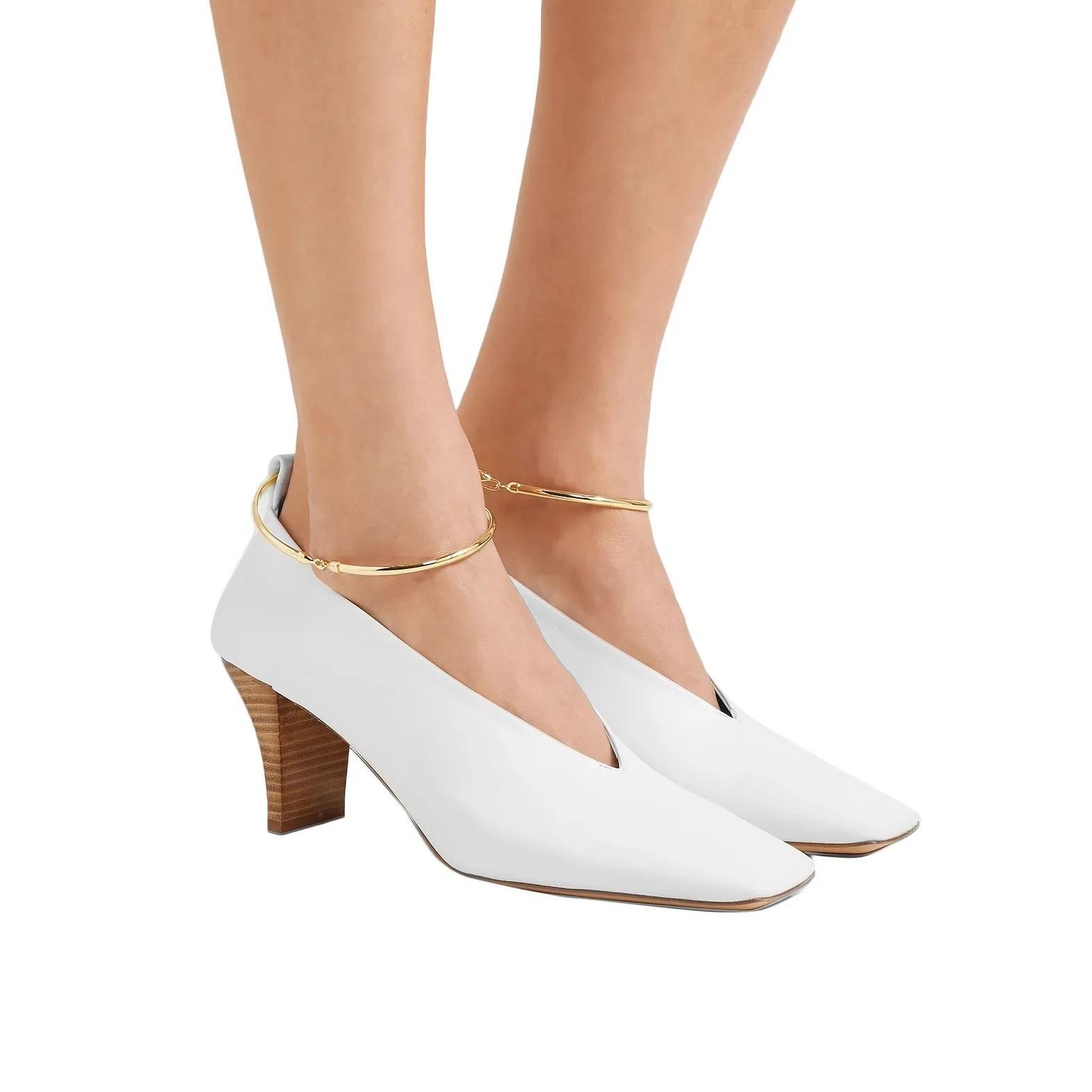 时尚博主同款!JIL SANDER 女士环圈高跟鞋