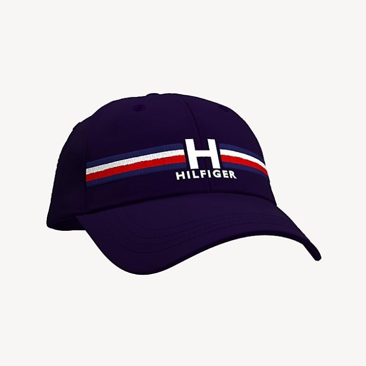 TOMMY HILFIGER H 条纹棒球帽