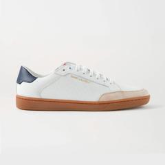 【变相8.3折】SAINT LAURENT Court Classic 品牌标志印花绒面革边饰穿孔皮革运动鞋