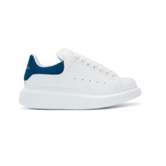 罕见配色!ALEXANDER MCQUEEN 白色拼蓝色阔型运动鞋