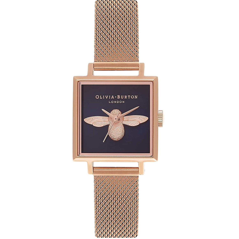 Olivia Burton 时尚蜜蜂玫瑰金女士手表