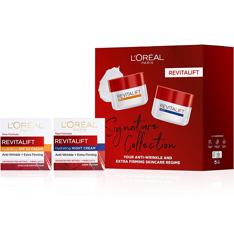 好价回归!L'Oreal 欧莱雅 复颜系列 日霜 + 晚霜 护肤抗皱礼品套装