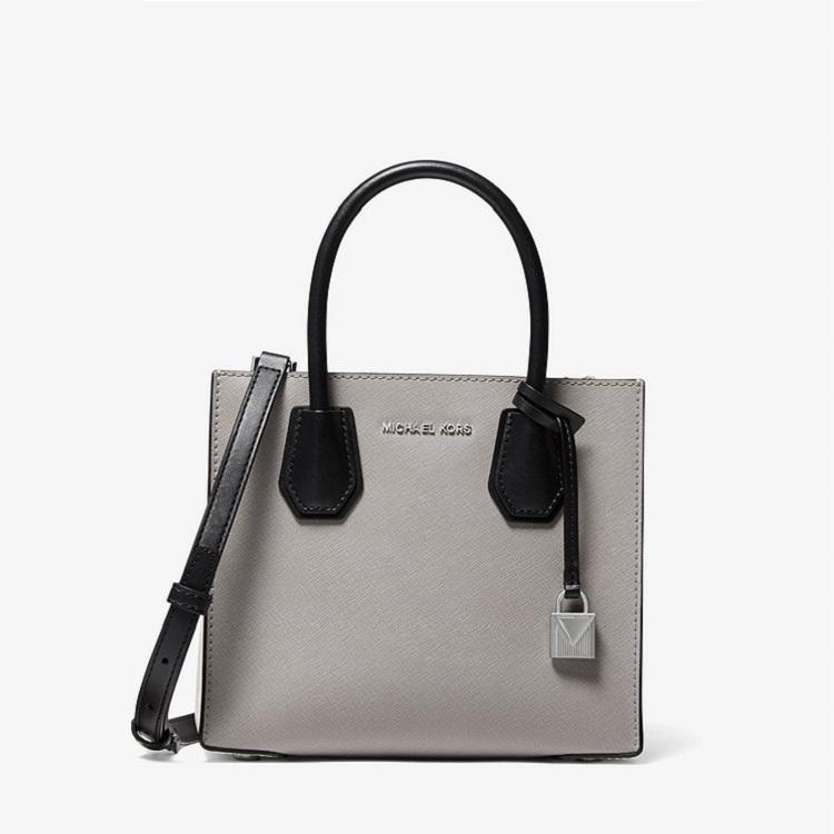 Michael KorsMercer Medium Color-Block Saffiano Leather Accordion Crossbody Bag