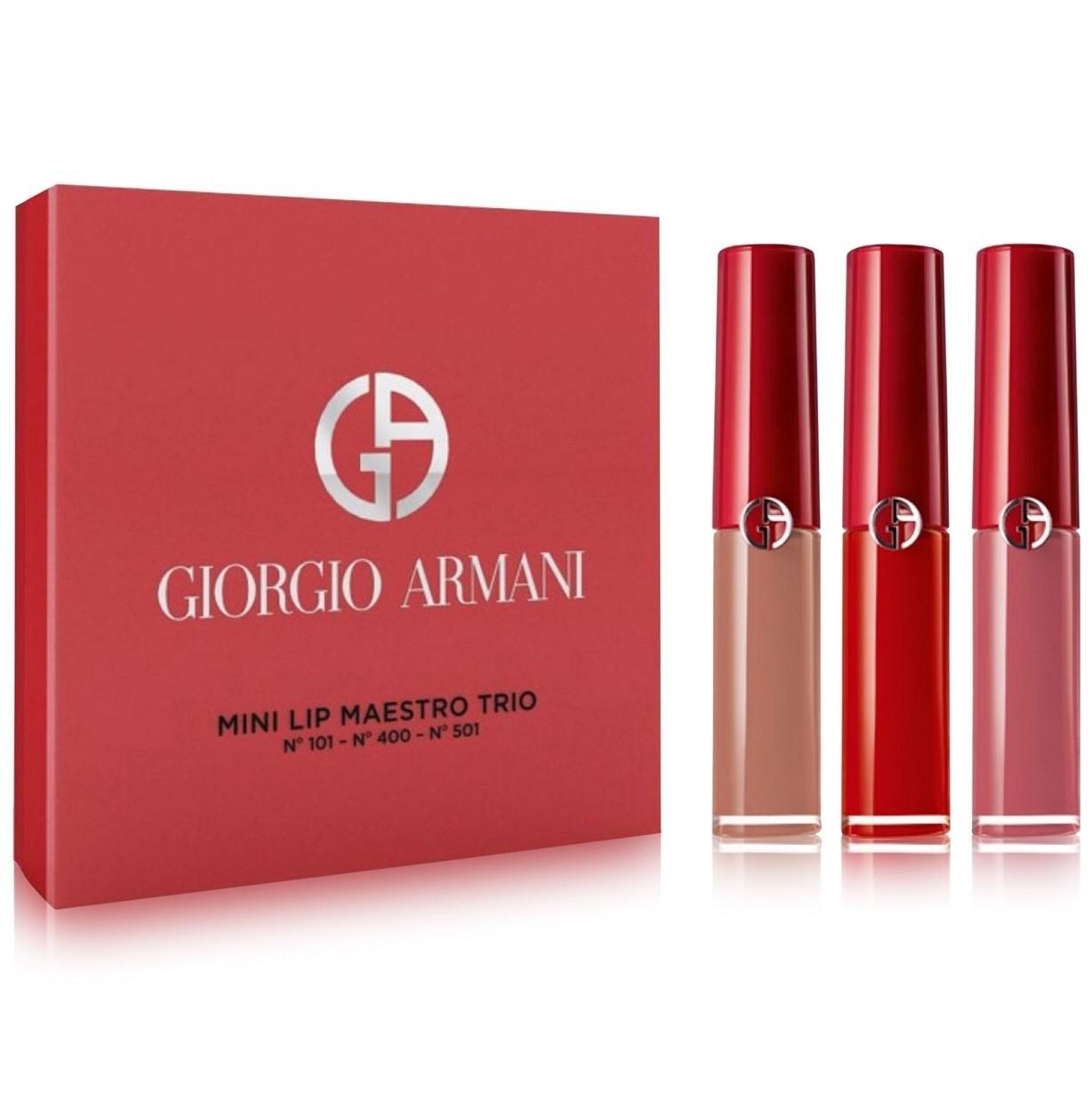 【5折】Armani 阿玛尼 红管mini唇釉3件套