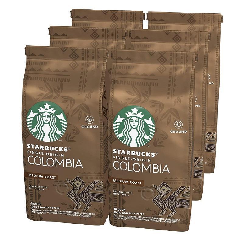 新低!STARBUCKS 星巴克 Single-Origin Colombia 咖啡粉 (6 x 200g)