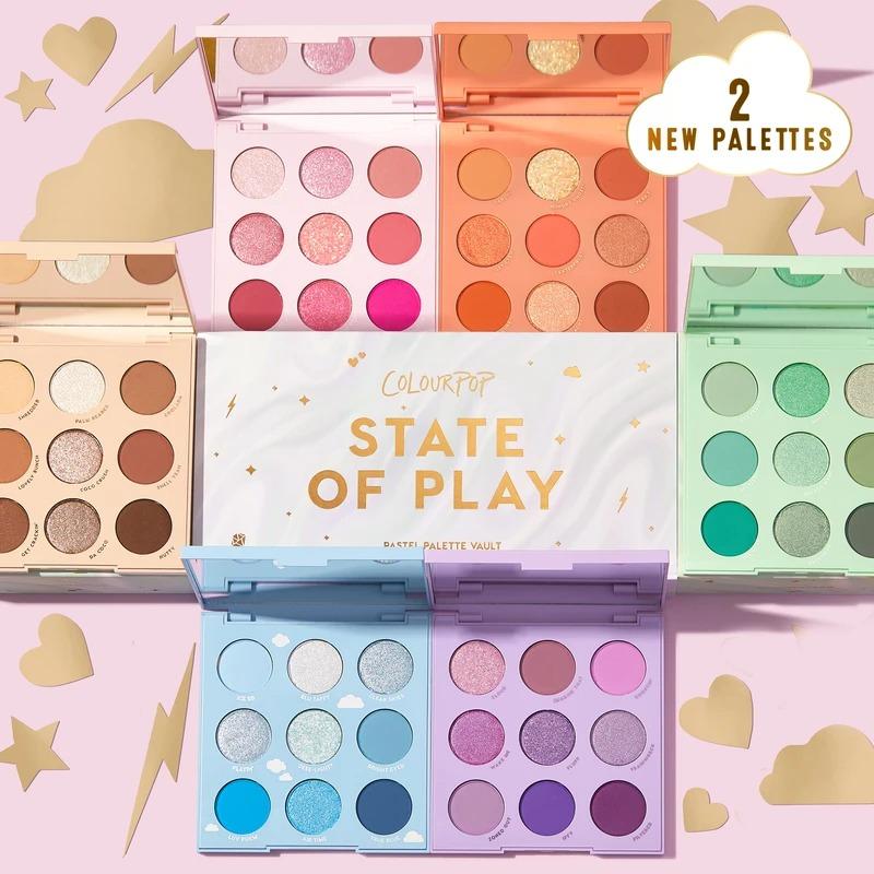 Colourpop 新品眼影盘6件套 state of play
