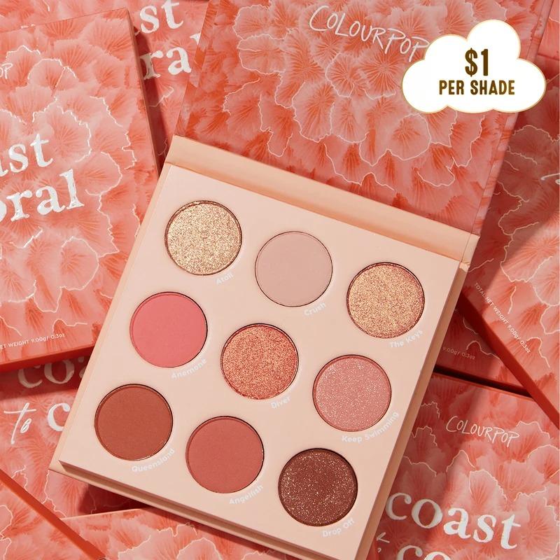 Colourpop 珊瑚盘 coast to coral